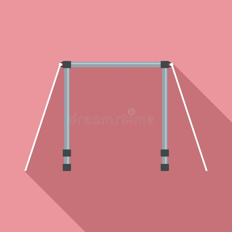 Horisontalstångsymbol, plan stil stock illustrationer