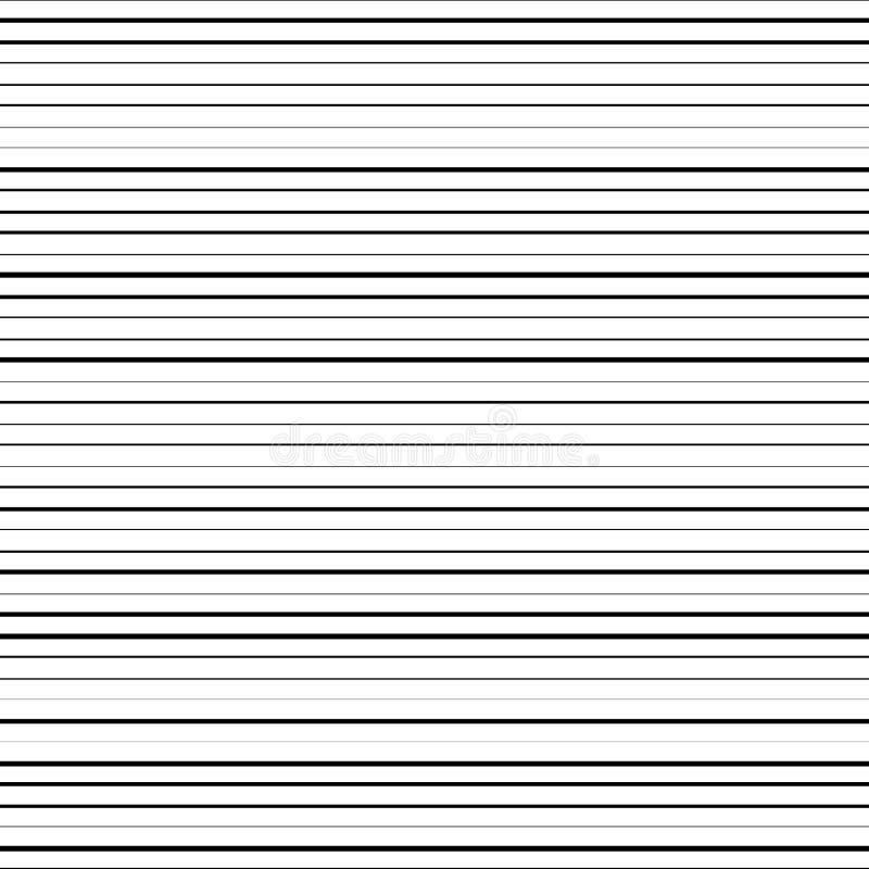 Horisontalsvartlinjer vektor illustrationer
