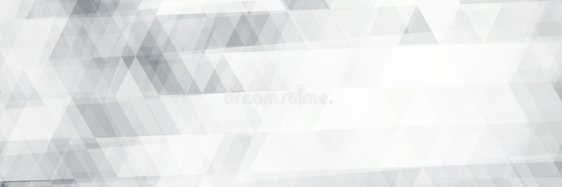 Horisontalsvartvit banermodell med trianglar stock illustrationer
