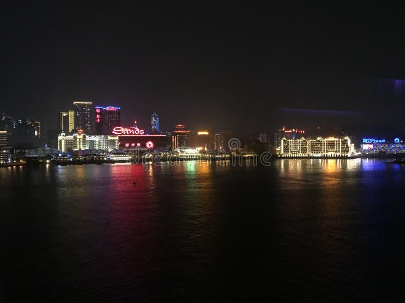Horisonten av den Macao halvön royaltyfri foto