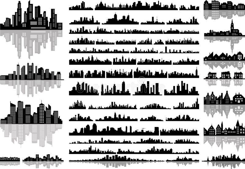 Horisonter vektor illustrationer