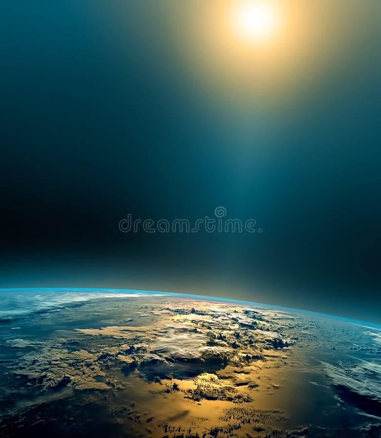 horisontlinjen för jord 3d framförde avstånd serie för internet för hand för bäst jordklot för affärsidébegrepp globalt glödande  stock illustrationer