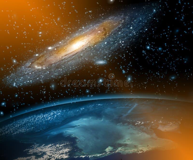 horisontlinjen för jord 3d framförde avstånd serie för internet för hand för bäst jordklot för affärsidébegrepp globalt glödande  arkivbild