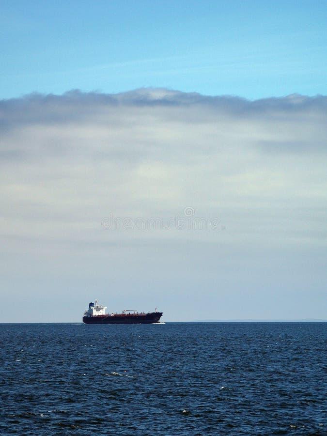 horisonttankfartyg royaltyfria foton