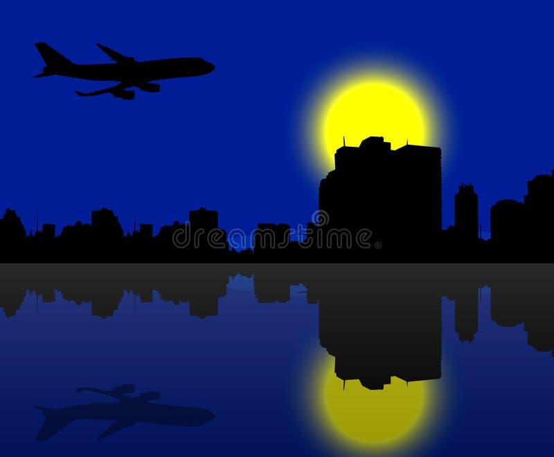 Horizon 01 van de stad stock illustratie