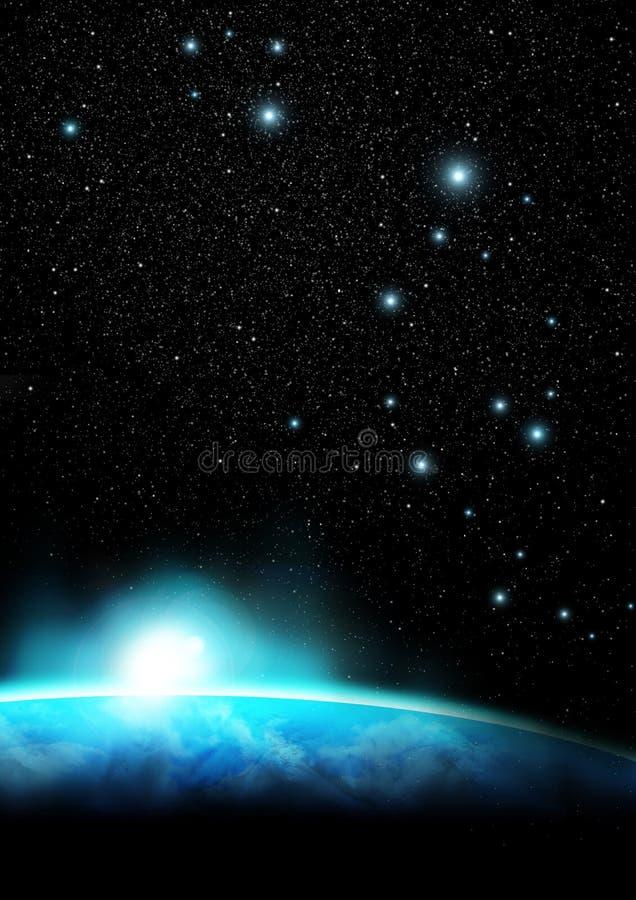 Horizon 2 van de aarde royalty-vrije illustratie