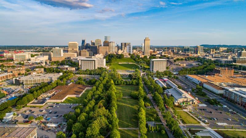Horizon aérien de bourdon de Nashville Tennessee TN photo libre de droits