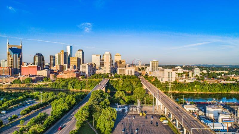 Horizon aérien de Nashville Tennessee TN image stock