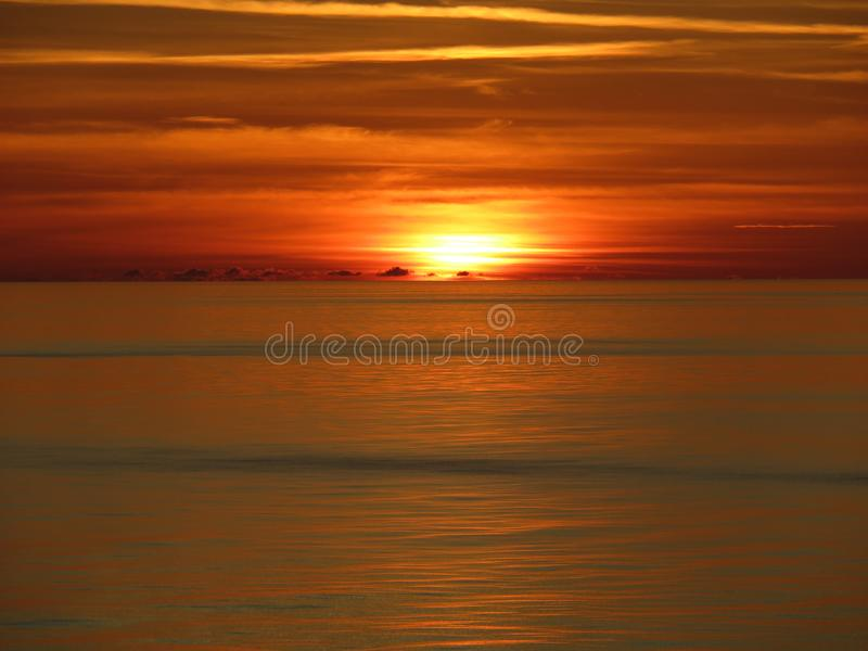 Horizon, Afterglow, Red Sky At Morning, Sunset Free Public Domain Cc0 Image