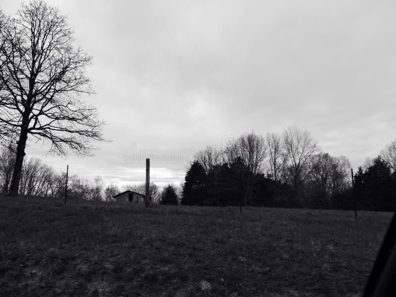 Horizon avant une tempête image libre de droits