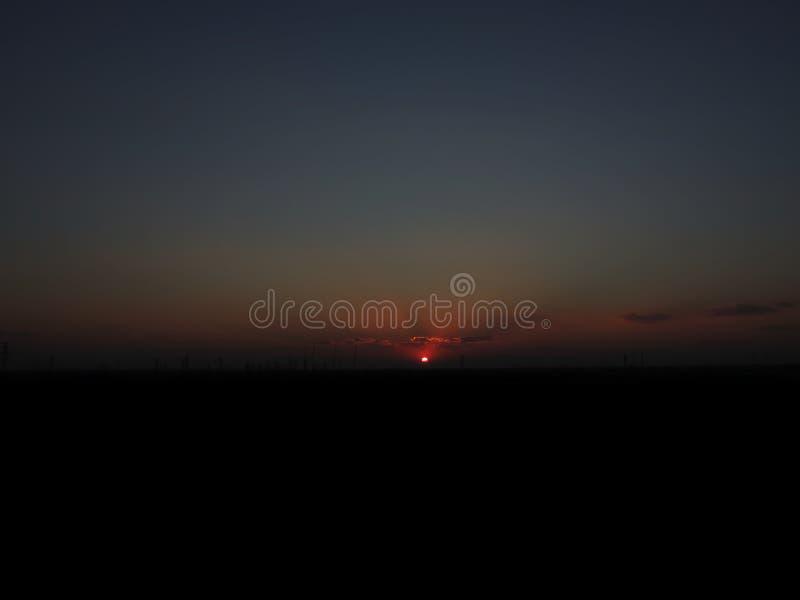 Horizon avec Sun images libres de droits