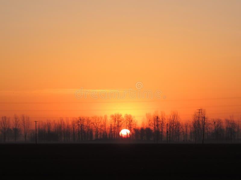 Horizon avec Sun photo stock