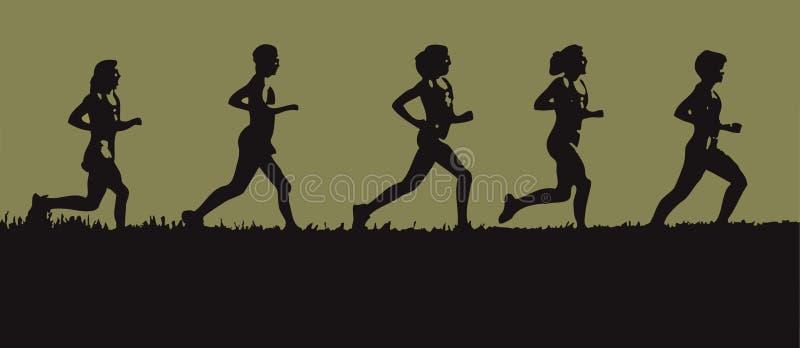 horizon biegacze ilustracji