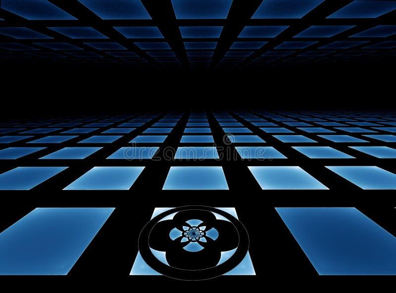 horizon bleu carrelé illustration de vecteur