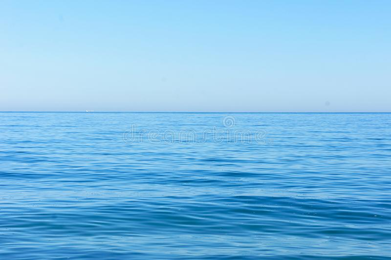 Horizon of the blue sea stock photography