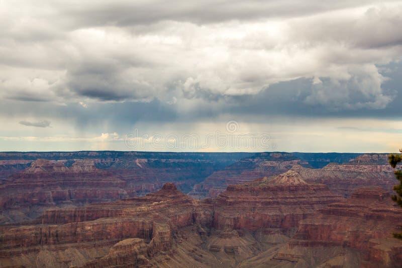 Horizon boven de grote canion stock foto