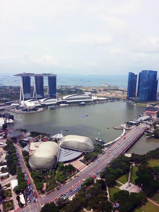 horizon central de Singapour de district d'affaires photo stock
