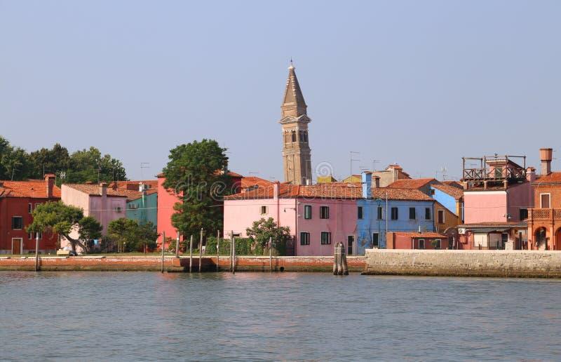 Horizon d'île de Burano près de Venise photographie stock libre de droits