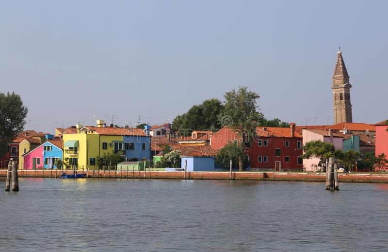 Horizon d'île de Burano près de Venise photos libres de droits
