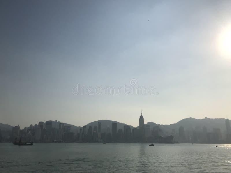 Horizon d'île du nord de Hong Kong photos libres de droits