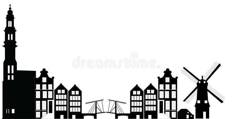 Horizon d'Amsterdam illustration de vecteur