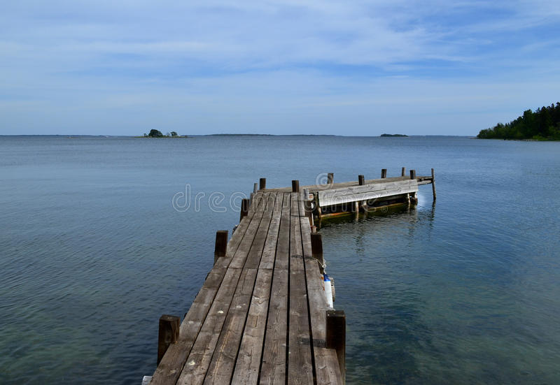 Horizon d'archipel image libre de droits