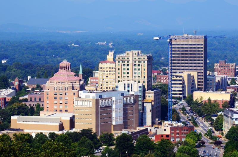 Horizon d'Asheville photo libre de droits