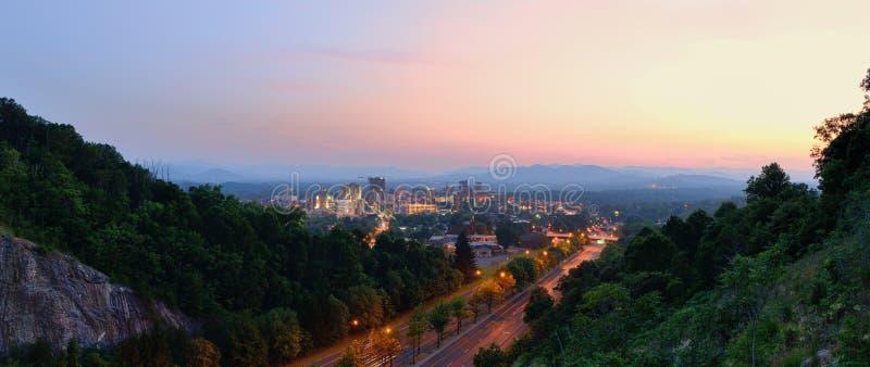 Horizon d'Asheville image stock