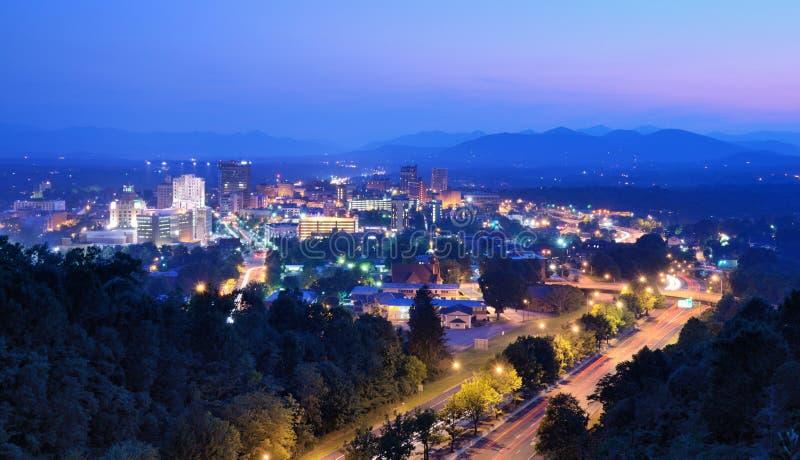 Horizon d'Asheville images libres de droits