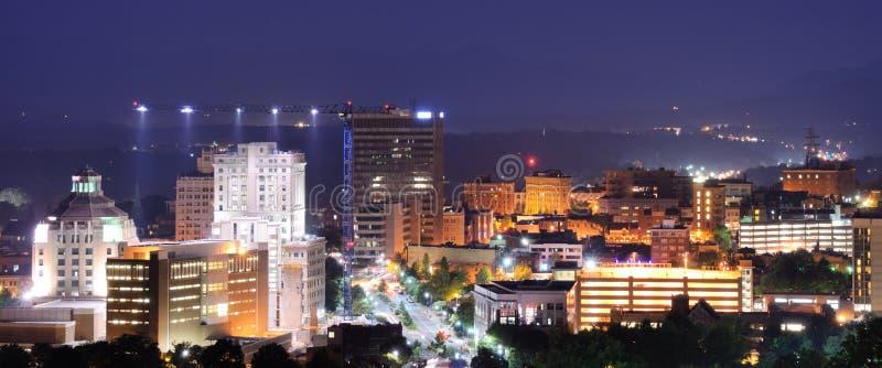 Horizon d'Asheville photo stock