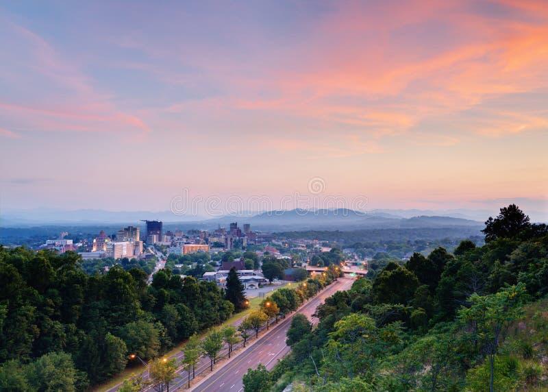 Horizon d'Asheville photos stock