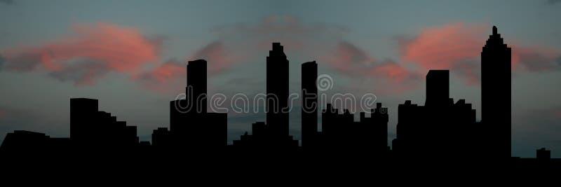 Horizon d'Atlanta au coucher du soleil illustration de vecteur