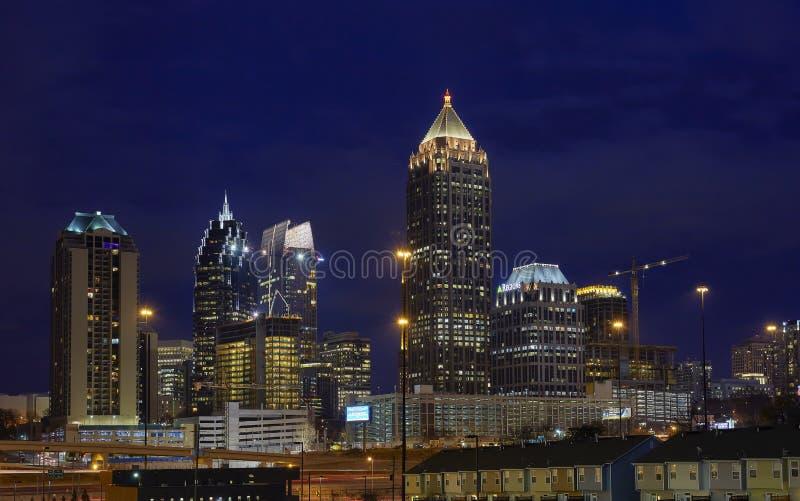 Horizon d'Atlanta de Midtown photographie stock