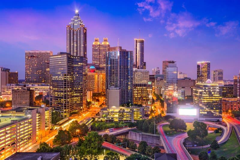 Horizon d'Atlanta, la Géorgie images libres de droits