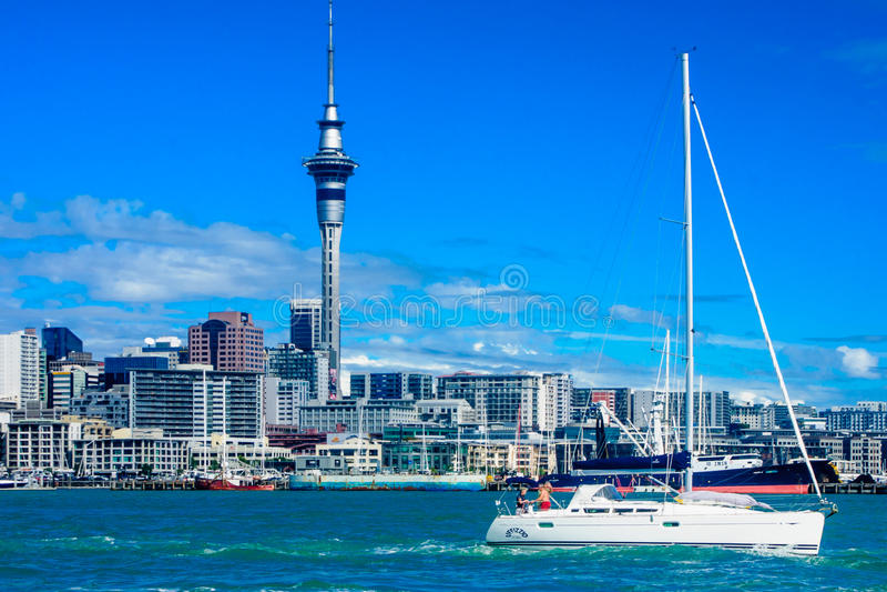 Horizon d'Auckland photo libre de droits