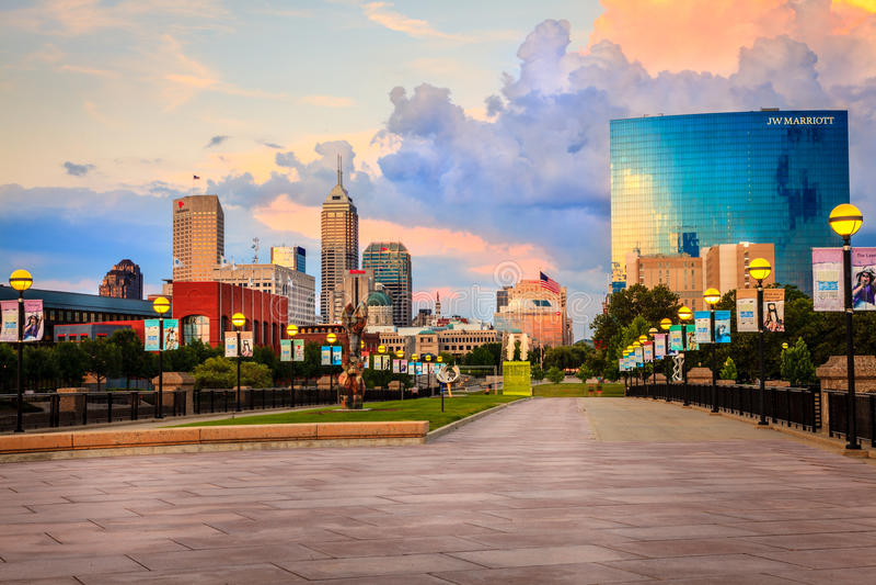 Horizon d'Indianapolis photo stock