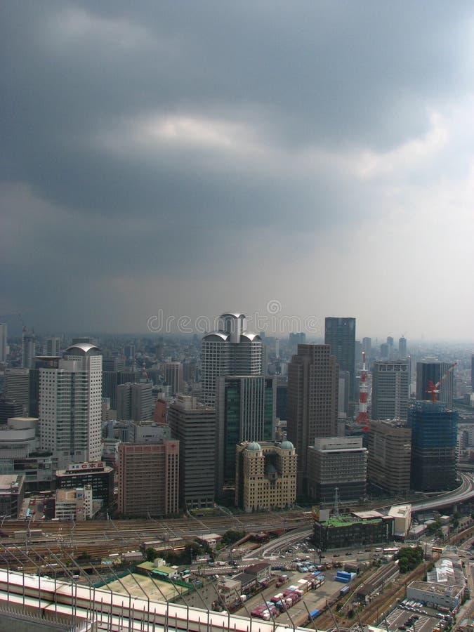 Horizon d'Osaka photo stock