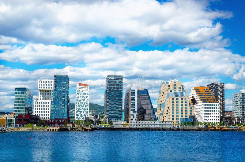 Horizon d'Oslo en Norvège, Scandinavie images libres de droits