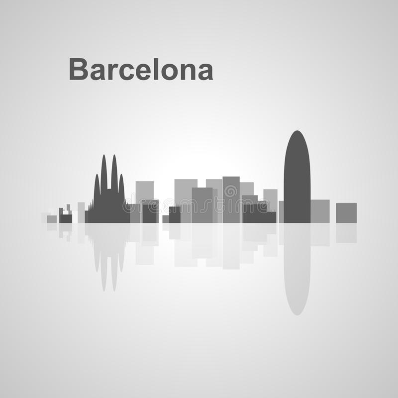 Horizon de Barcelone pour votre conception illustration stock