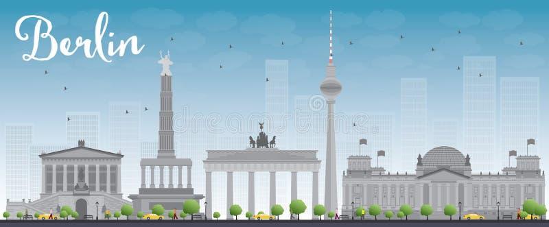 Download Horizon De Berlin Avec Le Bâtiment Gris Et Le Ciel Bleu Illustration de Vecteur - Illustration du destination, berlin: 56487793