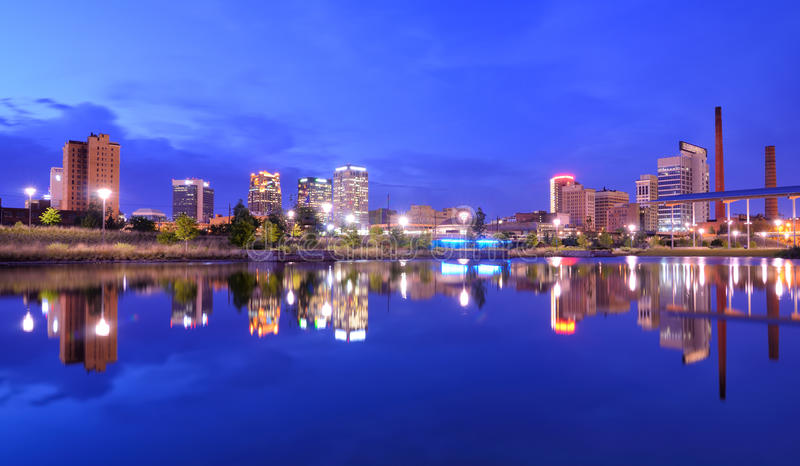 Horizon de Birmingham, Alabama images stock