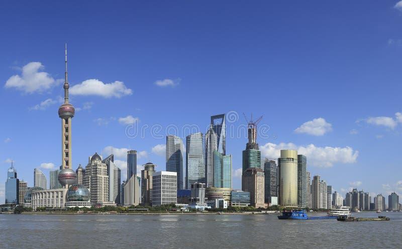 Horizon de borne limite de Changhaï photo libre de droits