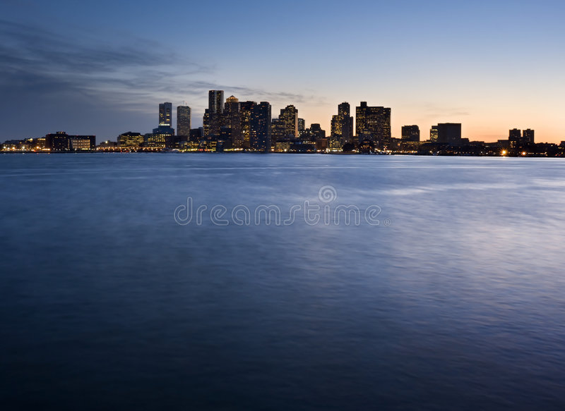Horizon de Boston photographie stock libre de droits