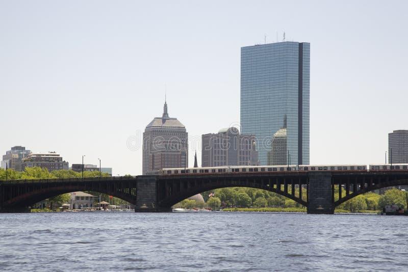 Horizon de Boston du fleuve de Charles 4 photographie stock libre de droits