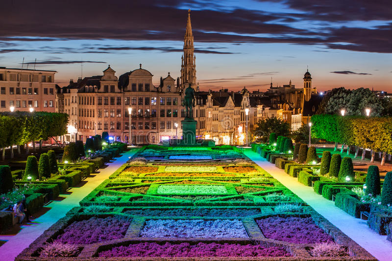 Horizon de Bruxelles image libre de droits