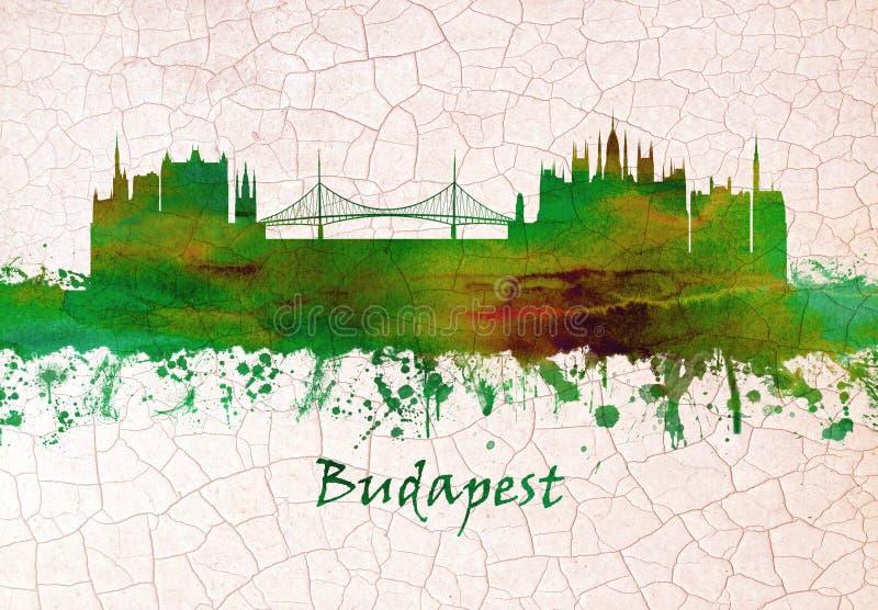 Horizon de Budapest Hongrie illustration libre de droits