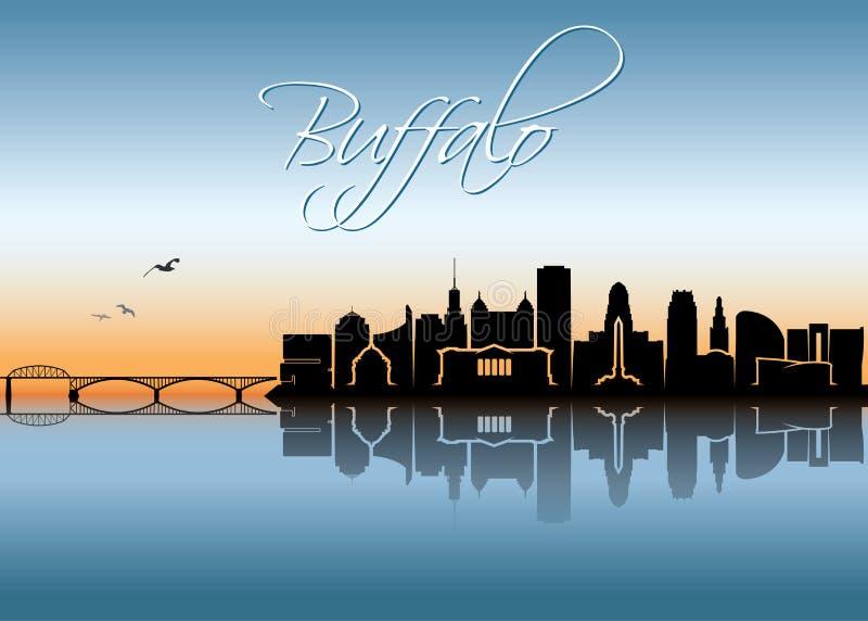 Horizon de Buffalo - New York - illustration de vecteur illustration de vecteur
