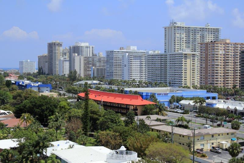 Horizon de côte de Fort Lauderdale image stock