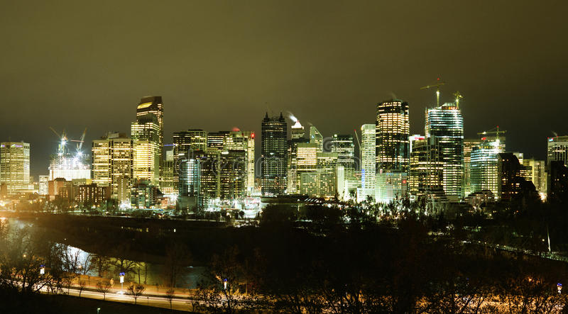Horizon de Calgary images stock
