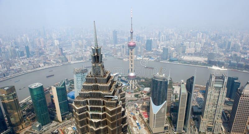 Horizon de Changhaï photos stock